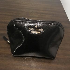 Shiny Black Kate Spade makeup case